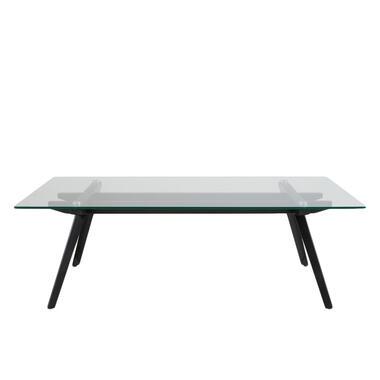 Salontafel Billum - transparant - 40x129x68 cm - Leen Bakker