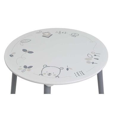 Demeyere tafel en stoeltjes Bear - wit/grijs - 60x60x50 cm - Leen Bakker