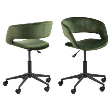 Bureaustoel Gizem - groen - Leen Bakker