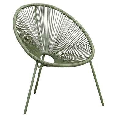 Loungestoel Formentera - olijfgroen - Leen Bakker
