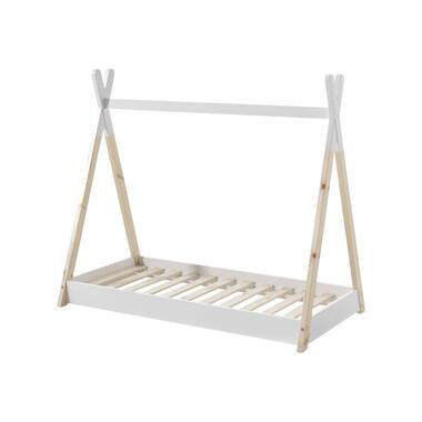 Vipack Bed Tipi - wit/naturel - 70x140 cm - Leen Bakker