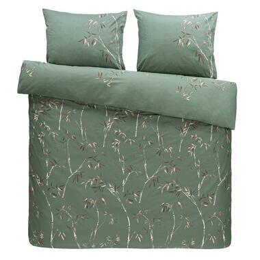 Comfort dekbedovertrek Muriel - groen - 200x200/220 cm - Leen Bakker