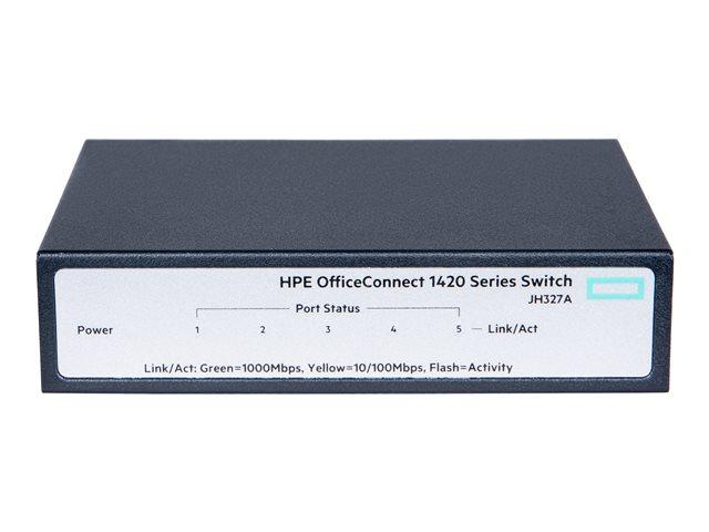 HPE OfficeConnect 1420 5g - Switch - onbeheerd - 5 x 10/100/1000 - desktop