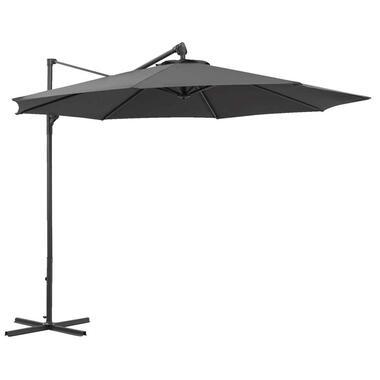 Le Sud freepole parasol Limoges - antraciet - Ø300 cm - Leen Bakker