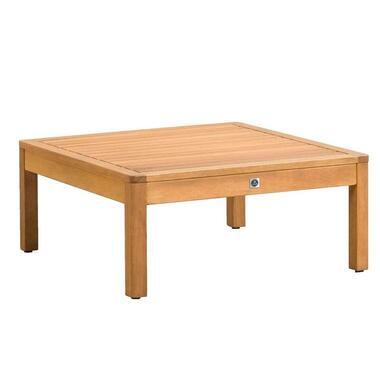 Le Sud tafel/hocker Orleans - naturel - 72x72x31 cm - Leen Bakker
