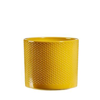 Bloempot Chris - geel - 12,5x13,5 cm - Leen Bakker