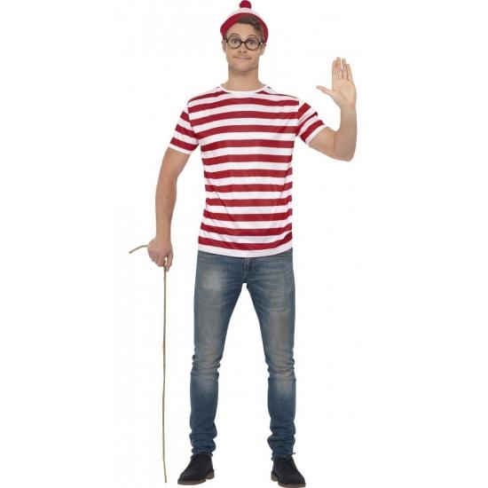 Waar is Wally verkleedset voor heren 52-54 (L) -