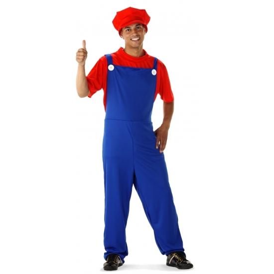 Voordelige rode loodgieter kostuum voor heren M/L (50-52) -