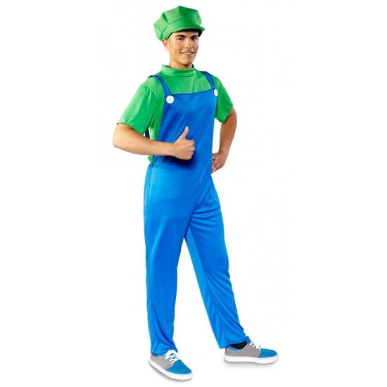 Voordelige groene loodgieter kostuum voor heren M/L (50-52) -