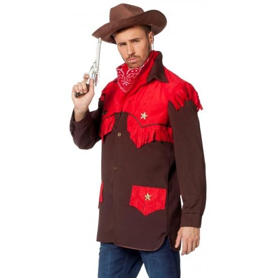 Luxe cowboy verkleed shirt voor heren 50 (M) -