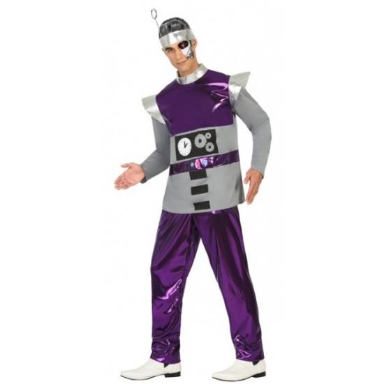 Paars robot kostuum voor heren XL -
