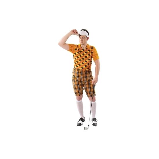 Golf kostuum oranje voor heren 48-50 (M) -