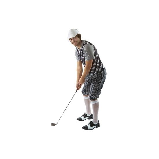 Golf kostuum zwart voor heren 52-54 (XL) -