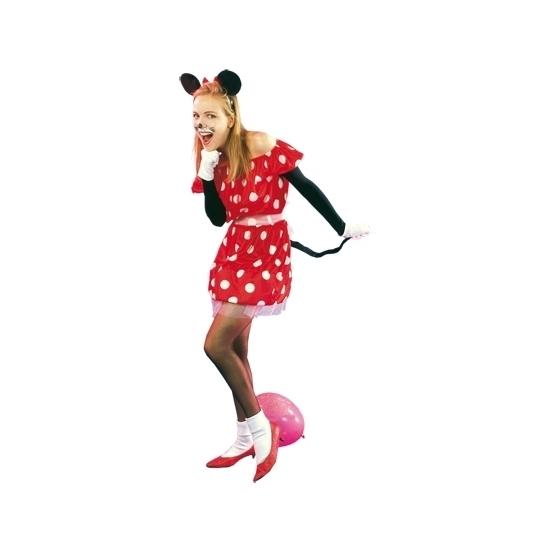 Rood muisje kostuum voor dames S/M (T-04) -
