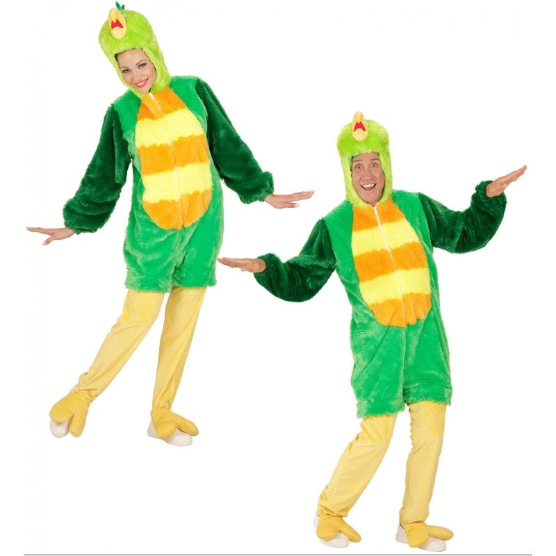 Pluche groene vogel kostuum XL -