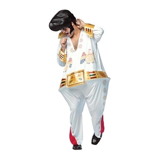 Fun dikke popster kostuum voor heren Onesize (M-XL) -