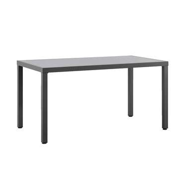 Tuintafel Ronda - antraciet - 145x80x74 cm - Leen Bakker