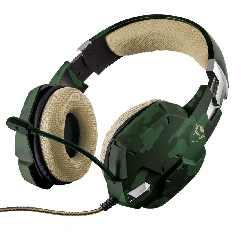 Trust GXT 322C Gaming Headset - Groene Camouflage Headset