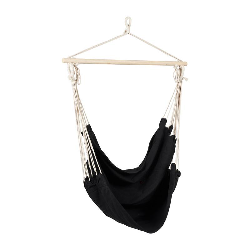 Hangstoel aan stok - zwart - 90x100x100 cm